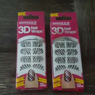 1000 Hour 3D Nail Wraps