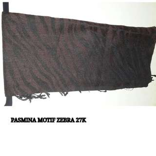 Pashmina Motif Zebra