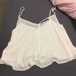White Singlet - Size 8