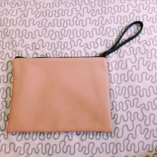BABY PINK AND BLACK BAG