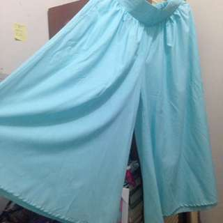 Light Blue Wide Cullote Pants