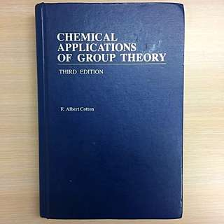 Chemical Application of Group Theory  #我有課本要賣