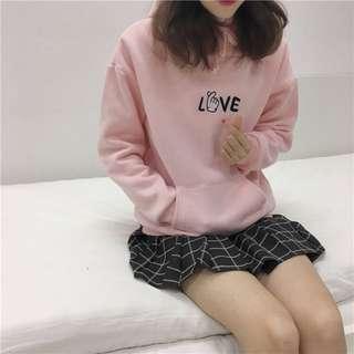 正韓🇰🇷粉紅love刺繡帽踢