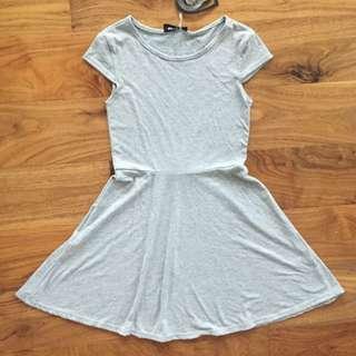 Grey Marle T Shirt Skater Flare Dress 8