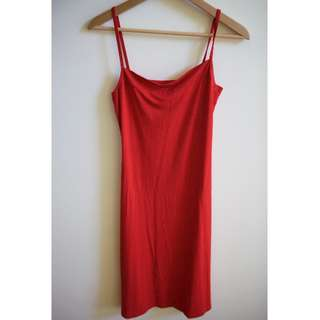 MM SOHN Red Slip Dress - Size 8