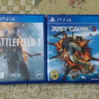 Used Battlefield 1 & Just Case 3