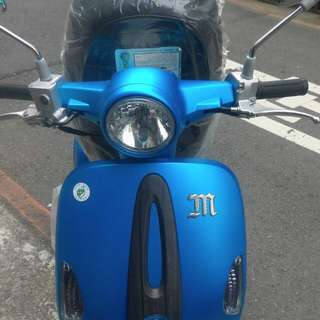 魅力 110cc 消光藍色