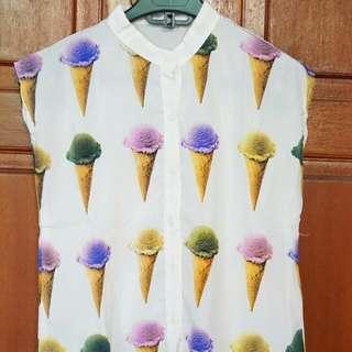 Blouse Ice Cream Colorfull