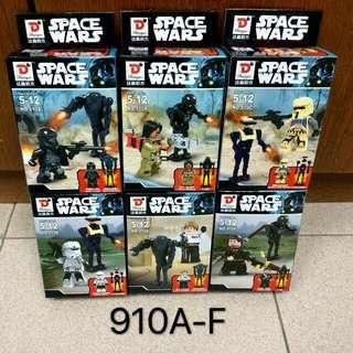 Rogue One A Star Wars Story Fargo 910 A-F Baze Malbus Chirrut Krennic Trooper Building Blocks Models MiniFigures Set Toys