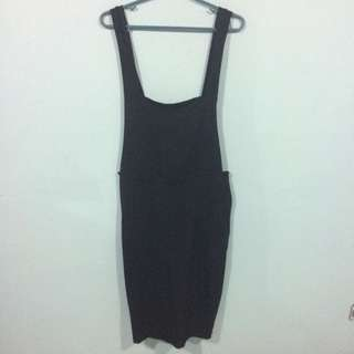 Plus Size Midi Jumpskirt Black