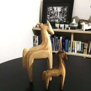 Freedom Home Decor - Wood Carved Horses