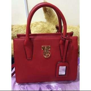Saime東京企劃紅色氣質手提側背包 #我的旋轉衣櫃 #我有正品名牌包要賣