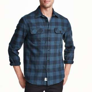 H&M Premium Plaid Blue Shirt