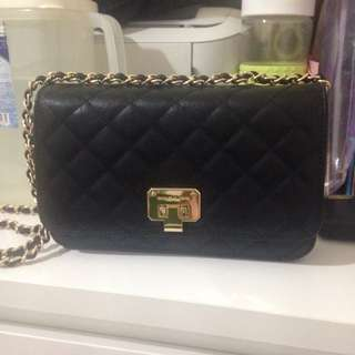 Charles & Keith Quilted Clutch Bag Black