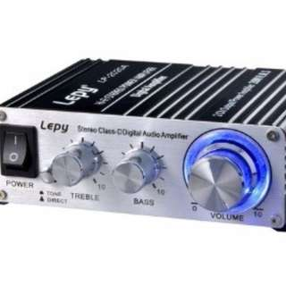 Lepy LP-2020A HiFi Stereo Audio Digital Amplifier with original DC12V 5A power adapter.