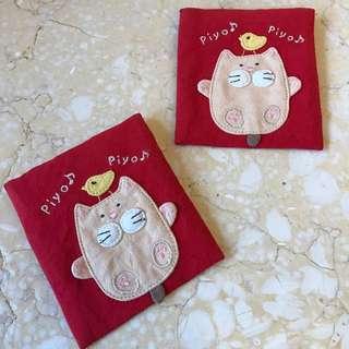 卡拉貓~金雞福氣貓咪愛心紅包袋