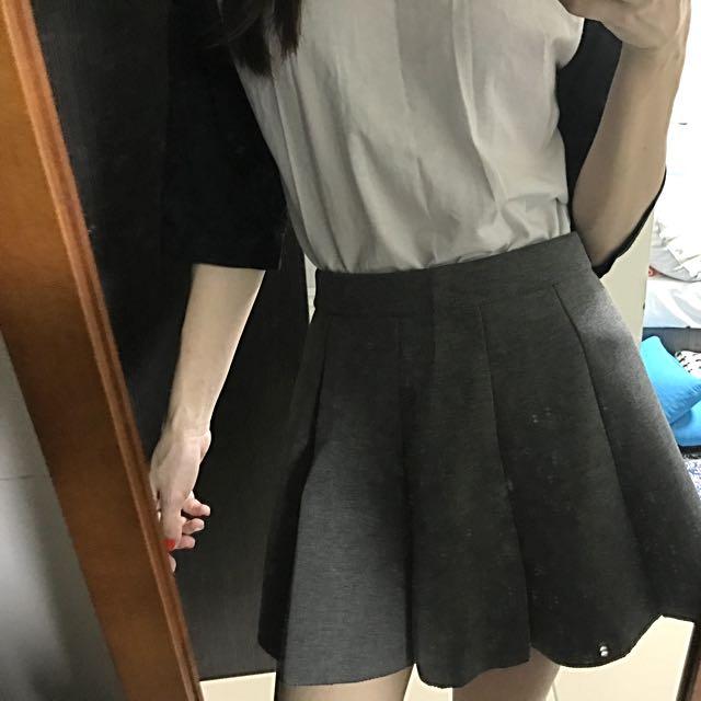 太空棉灰裙(有安全褲)