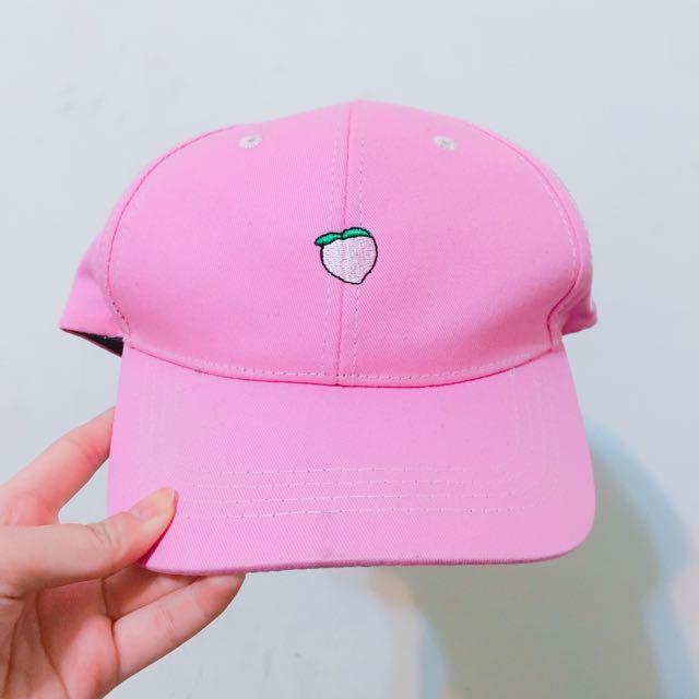 🍑粉色刺繡老帽