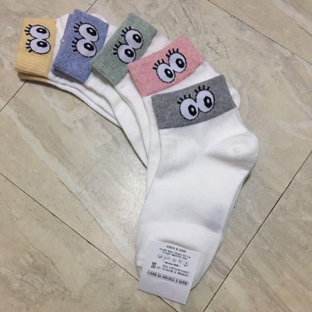 韓版大眼糖果襪 五雙/組