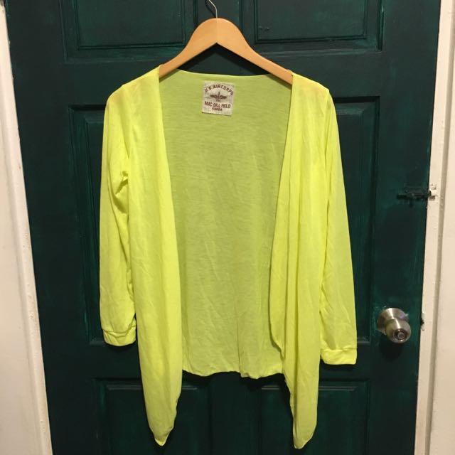 螢光黃開襟小外套 含運