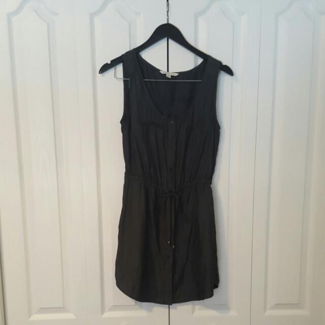 American Eagle Size Small Black Button-down Dress
