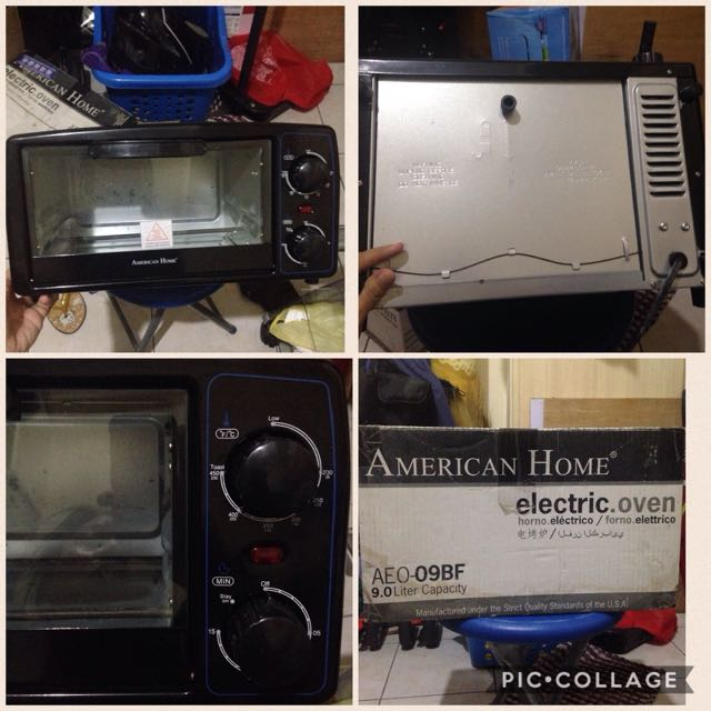 American Home Electric Oven 9.0 Liter Capacity Complete Free Power Bank