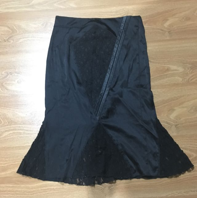 Authentic Black Lace Skirt By Guess Marziano
