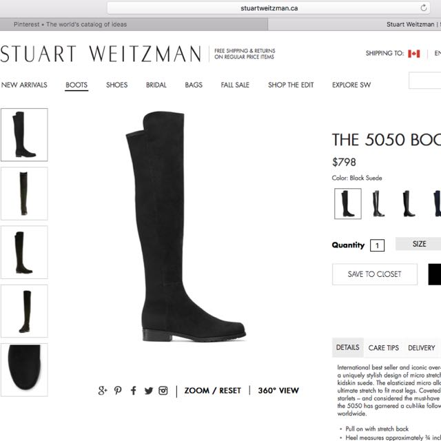 Authentic Start Weitzman Boots