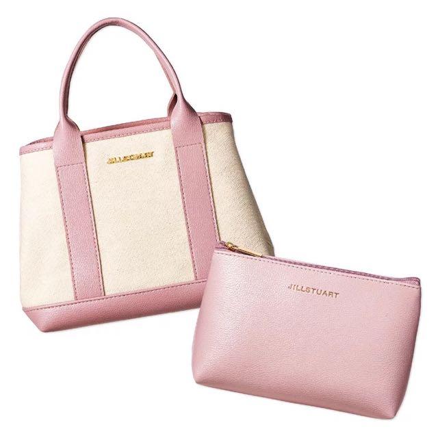 ◆Belle Shop◆日雜SWEET 10月號2016附錄JILL STUART粉色托特包&收納包