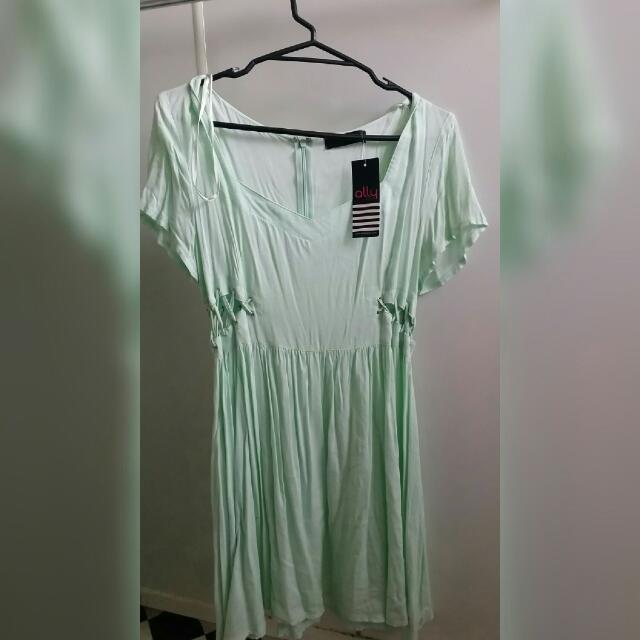 Blue Side Cutout Dress