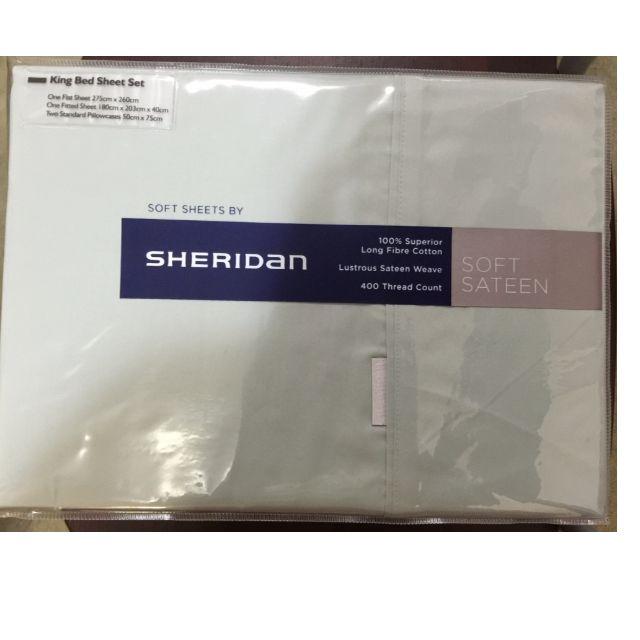 Brand New Sheridan 400TC Sateen Sheet Set King size RRP $349.95