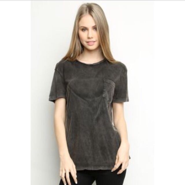 Brandy melville Grey Ieva Top