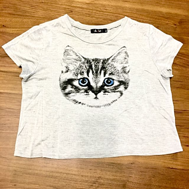 👕Chic a booli 貓咪圖短版上衣