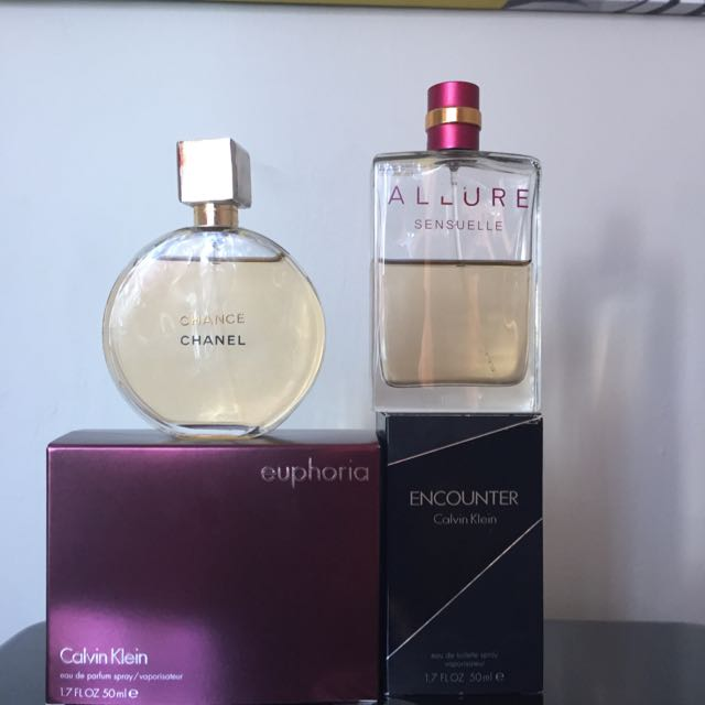 CK Euphoria For Her, CK Encounter For Him, Chanel Perfume, Chanel Allure