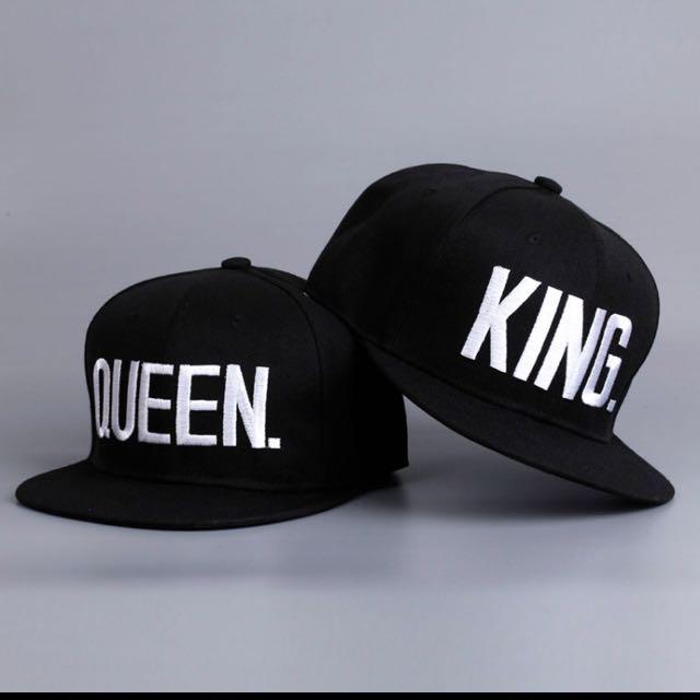 8d3560efafe8e Couples Fashion King Queen Hip Hop Baseball Caps