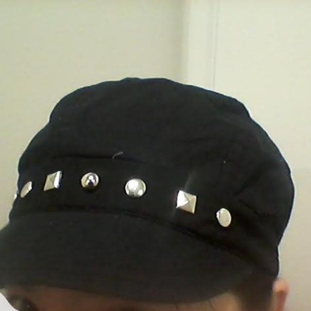 Dark Blue Black Cap With Studs