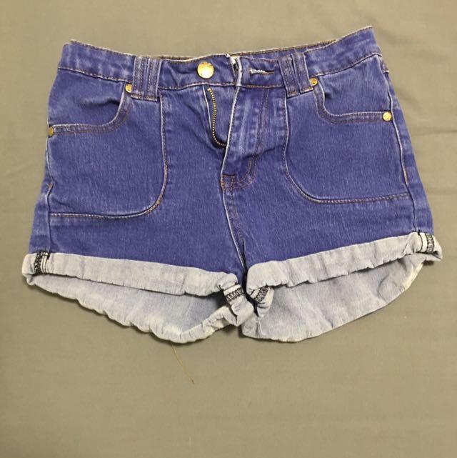Denim Mini Shorts - Size 6