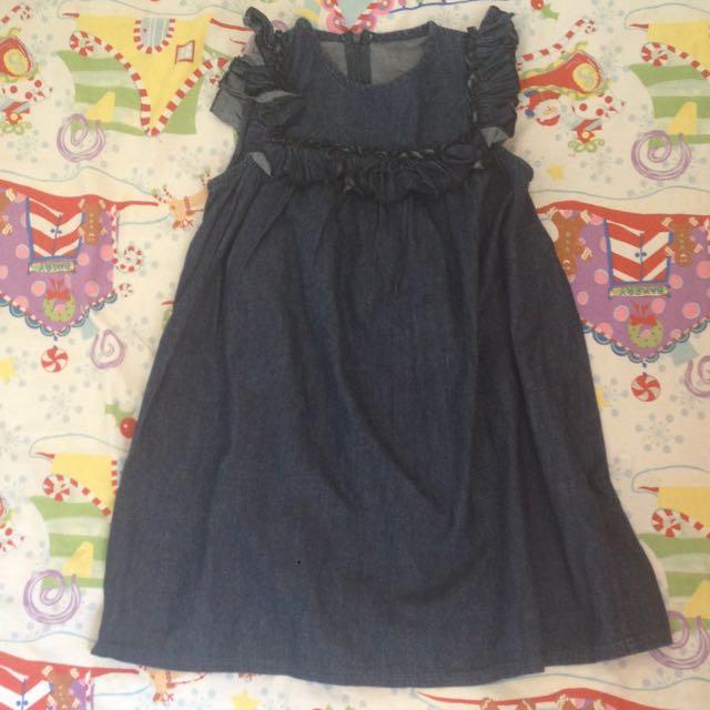 Dress Denim Anak 5-6thn