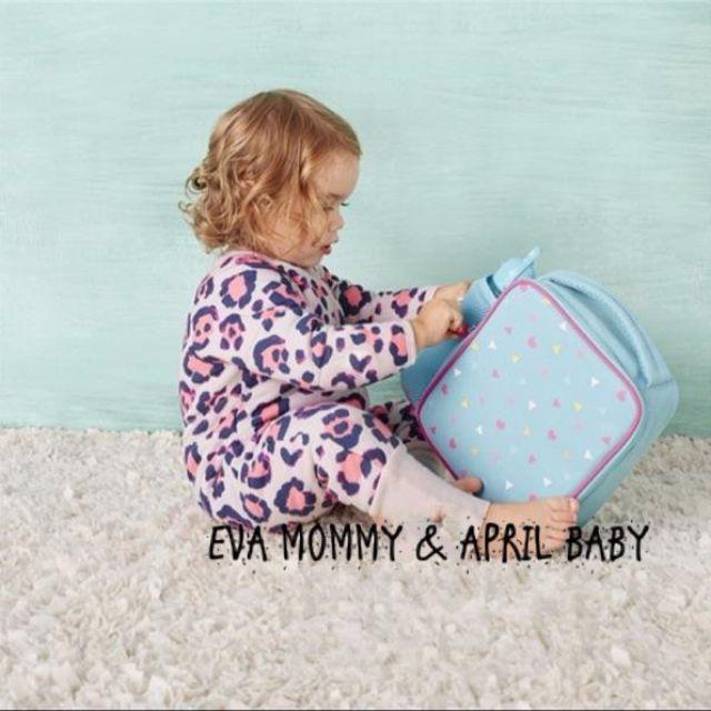 EVA EVA SHOP 冬季新品-新生兒男女寶寶粉紅豹紋加棉加厚連身拉鍊包屁衣