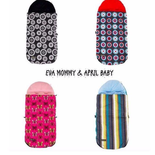 EVA EVA SHOP冬季新品- 歐洲時尚經典款汽座推車睡袋 4色