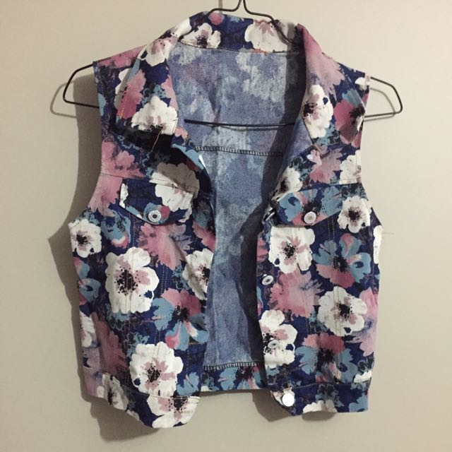 Floral Jeans Cardigan (No Brand)