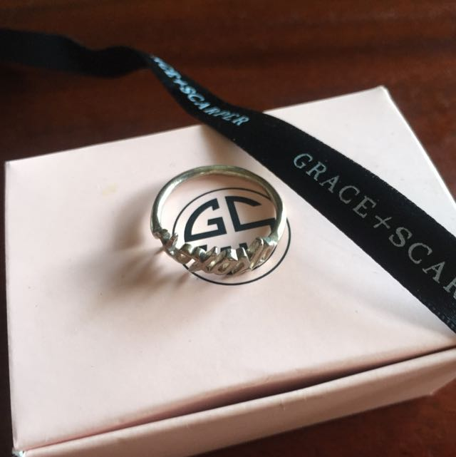 Grace & Scarper Silver Xoxo Ring