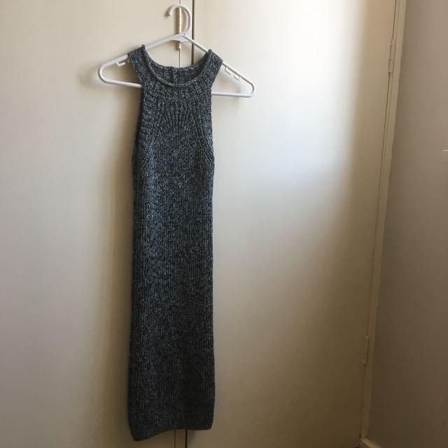 Grey/black Knit Dress