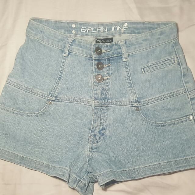 High Wasted Denim Shorts Size 10