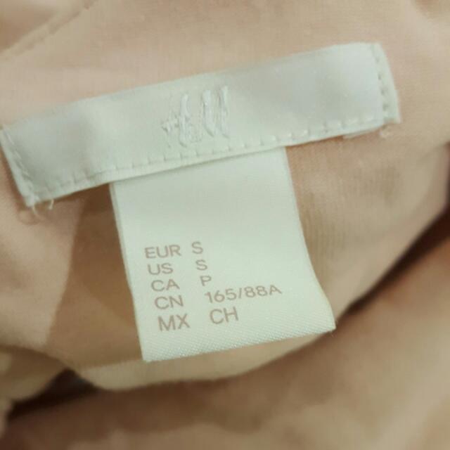 H&M Pale Pink Off The Shoulder Top