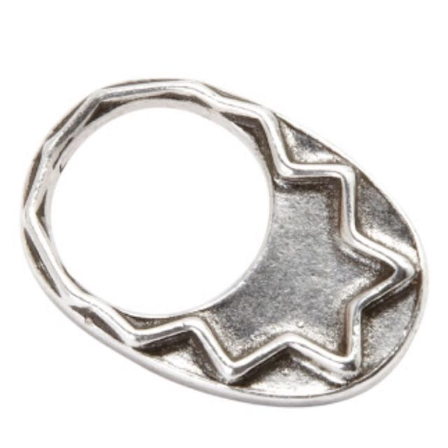 House Of Harlow 1960 Silver Zig Zag Ring