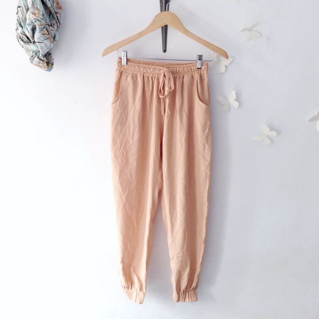 Peach Jogger Pants