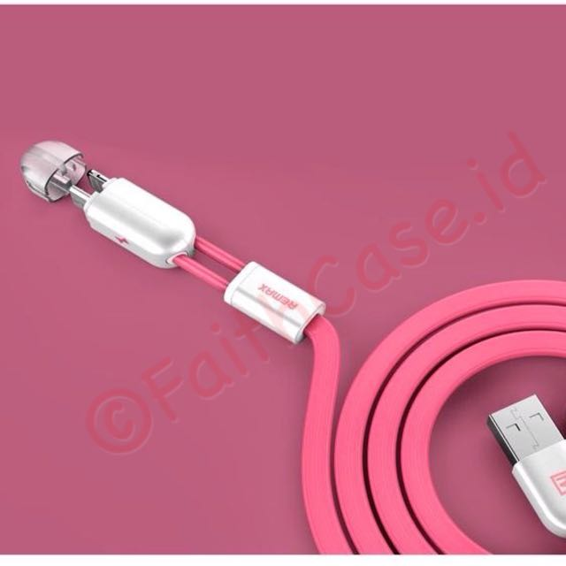 Kabel Data Charger Charging Iphone Android 2in1 Magnetic Remax Original