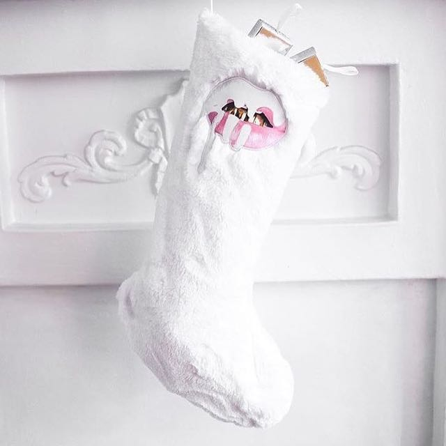 kylie holiday stocking