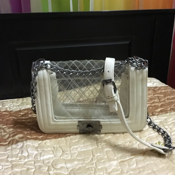 Ladies Transparent Chain Bag
